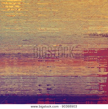 Old background with delicate abstract texture. With different color patterns: yellow (beige); brown; purple (violet); pink