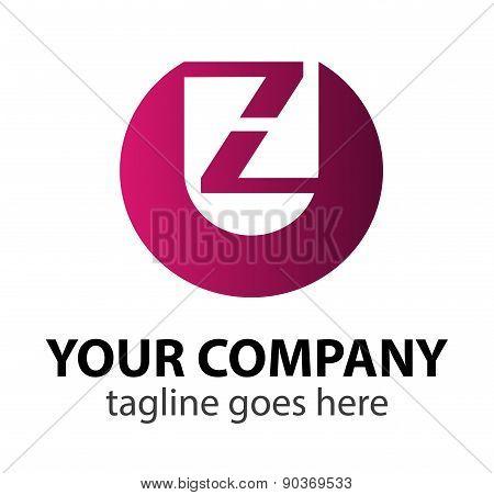 Abstract Letter Z vector logo symbol
