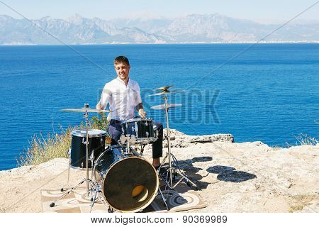 Drummer Outdoors