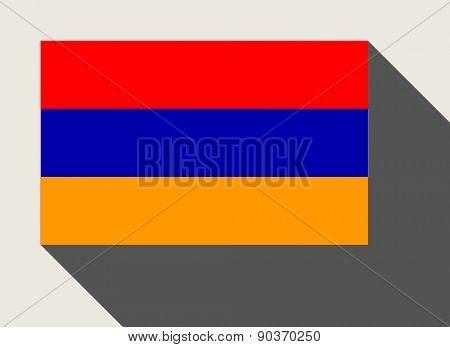 Armenia flag in flat web design style.