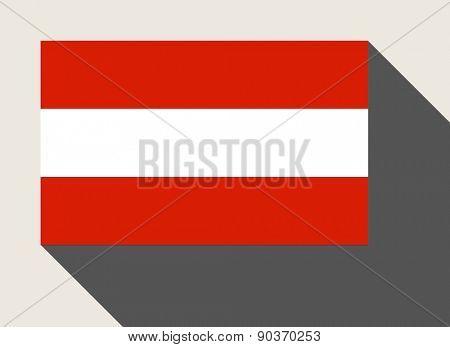 Austria flag in flat web design style.