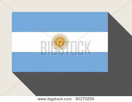 Argentina flag in flat web design style.