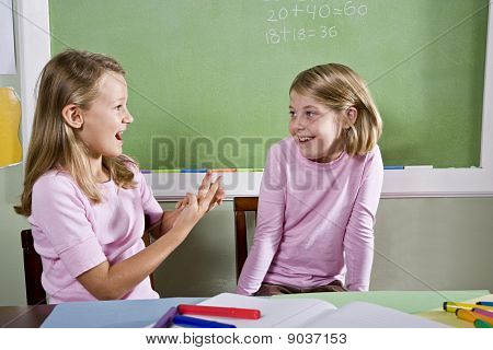 Friends In Class Talking