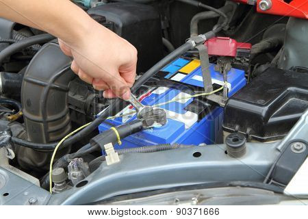 Change car batteries.
