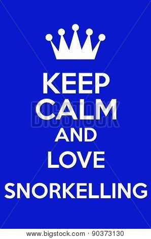 Keep Cal And Love Snorkeling