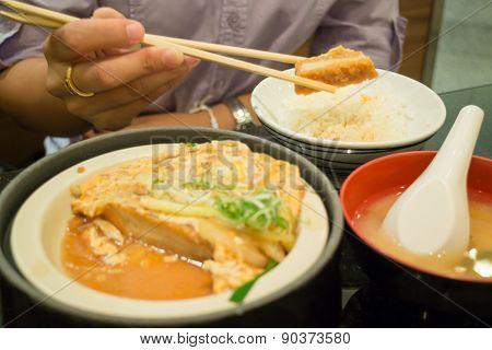 Japanese Fried Pork Chop With Rice