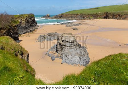 Trevone Bay North Cornwall England UK near Padstow and Newquay and on the South West Coast Path