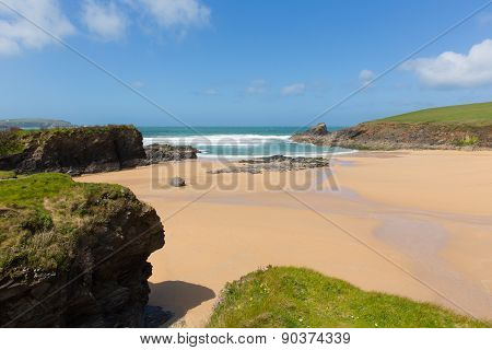 Beach near Padstow Trevone Bay North Cornwall England UK