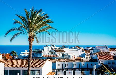 Rooftops Of Rancho Domingo, Benalmadena. Malaga, Southern Spain