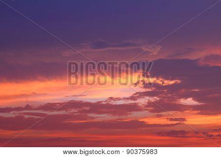 cloud on sky in sunrise time.