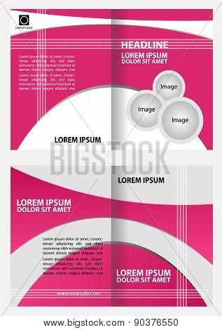 Professional business catalog template or corporate brochure design