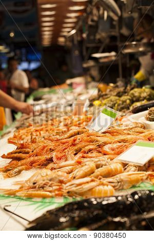 Fresh seafood at fish market