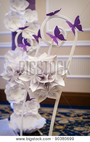 Decor Holiday Decoration Made Paper Origami