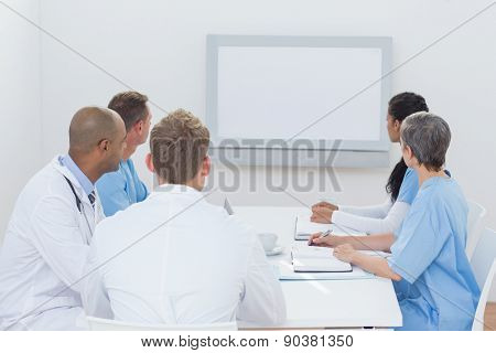 Team of doctors having a meeting in medical office
