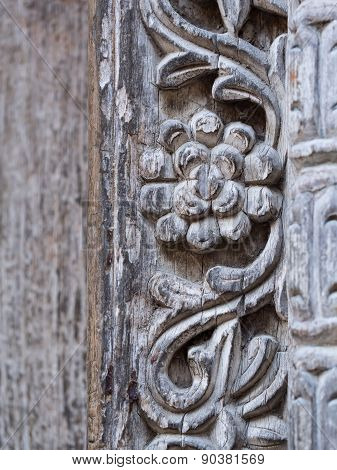 Ornament on doors in Stone Town, Zanzibar