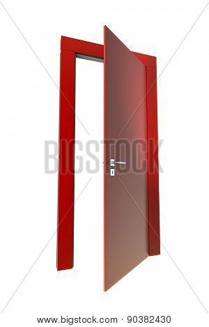 Red Wooden Door