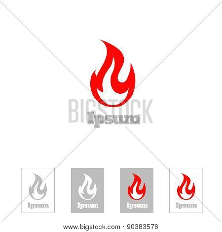 Fire flame vector logo design template. Corporate  luxury symbol or Logotype icon  concept.