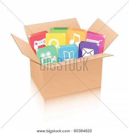 Applications in cardboard box