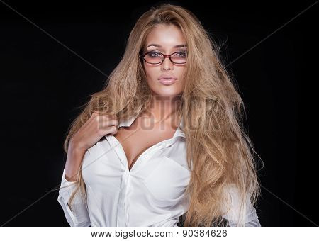 Sexy Businesswoman In Studio.