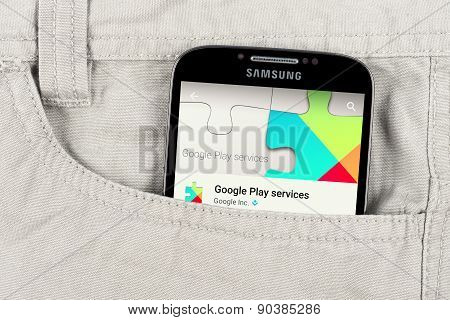 Google play app on the Samsung galaxy display