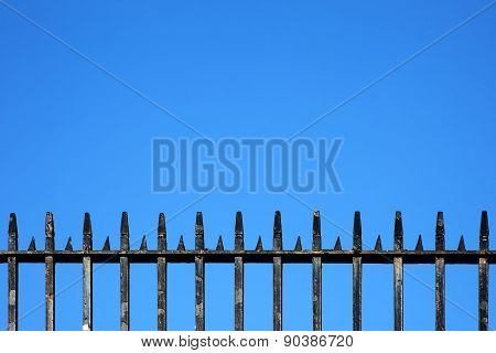 Victorian railings background