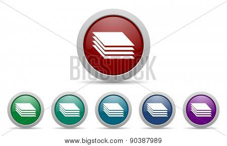 layers icon gages sign