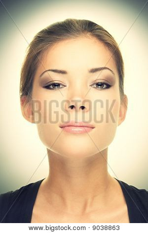 Female Beauty Portrait - Serious Look