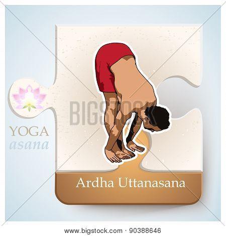 Yoga Asana Ardha Uttanasana