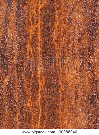 Detail of a rusty metal surface