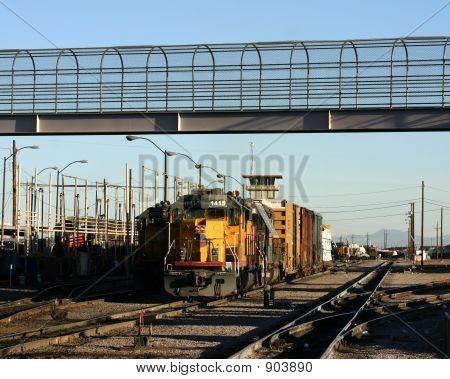 Deisel Locomotive And Train