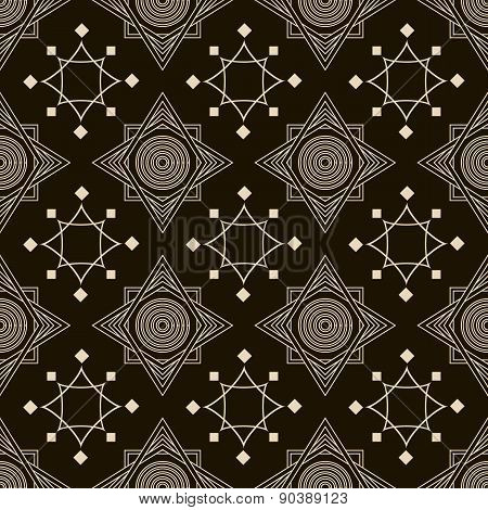 Seamless Antique Pattern Ornament. Geometric Stylish Background Repeating