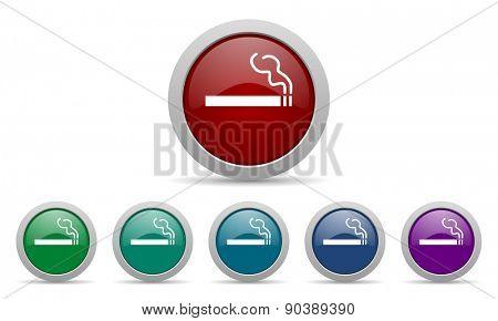 cigarette icon nicotine sign