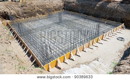 Foundation Of A New House.