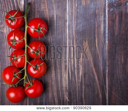 Brunch Of Ripe Red Cherry Tomatoes