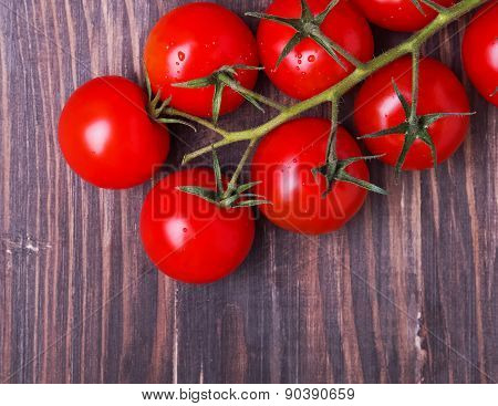 Brunch Of Red Cherry Tomatoes
