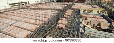 Reinforce Iron Cage Net For Built Building Floor.