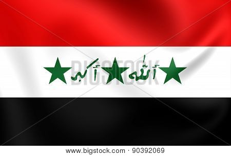 Flag Of Iraq (1991-2004)