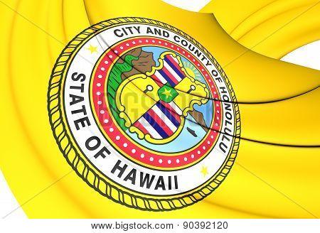 Flag Of Honolulu, Usa.