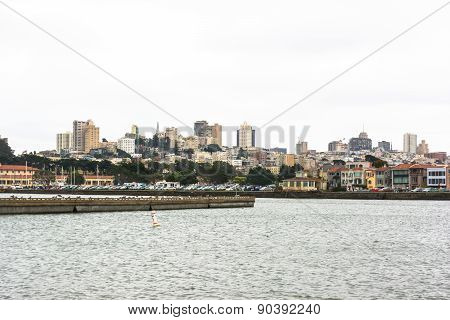 Skyline of San Francisco in a cloudy day