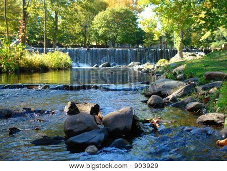 Waterfall With Small Stream
