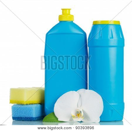 Blue cleaning products