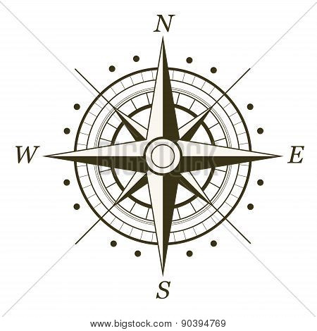 Classic Wind Rose Isolated