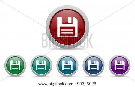disk icon data sign