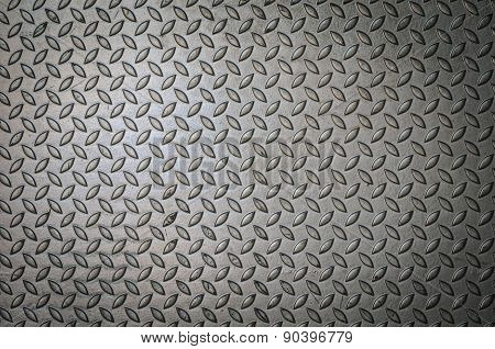 textur Of Metal  Plate In Silver Color.