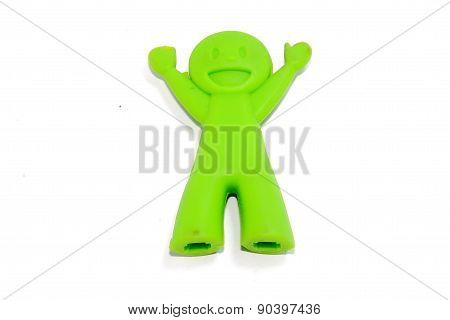 Green Chop Sticks Holder doll
