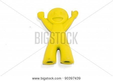 Yellow Chop Sticks Holder doll