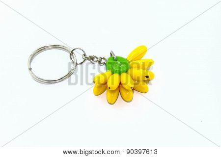 Yellow Bananas tags for Key bunch