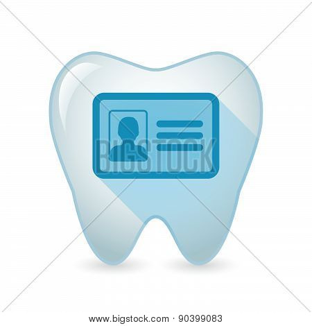 Tooth Icon With An Id Card