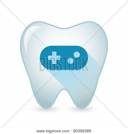 Tooth Icon With A Game Pad