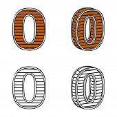 stock photo of zero  - Number zero  - JPG